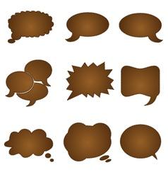 speech chocolate bubble vector image vector image