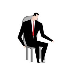 businessman on chair boss in stool manager vector image vector image