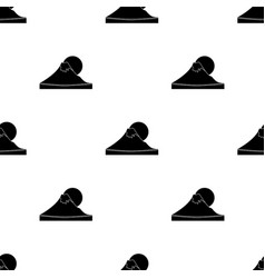mount fuji icon in black style isolated on white vector image