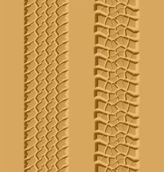 Seamless tire tracks vector image