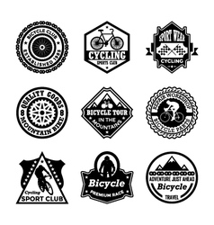 Cycling Badges vector image vector image