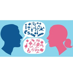 How men and women communicate vector image