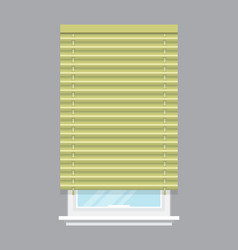 Apartment window with jalousie isolated vector