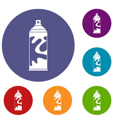 colored spray icons set vector image vector image