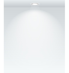Illuminated with the spot empty wall template vector image