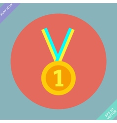 1st Position Gold Medal Icon vector image