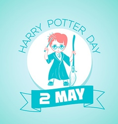 2 may harry potter day vector