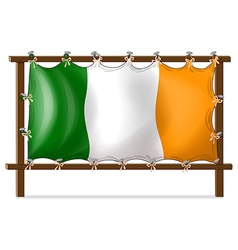 A frame with the flag of Ireland vector image