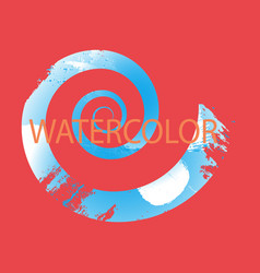 Abstract isolated colorful watercolor logo grunge vector