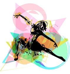Abstract of women dancing vector