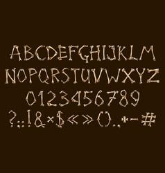 alphabet and numbers bones dia de los muertos vector image