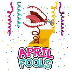 April fools day card vector