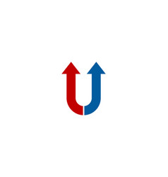 arrow letter u logo icon design vector image