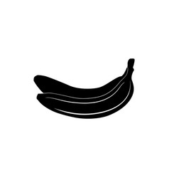 black silhouette of banana vector image