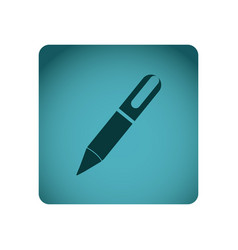 Blue emblem ballpoint icon vector