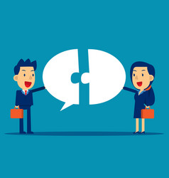 Business communication with speech bubble concept vector