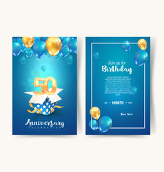 Celebration 50 th years birthday vector