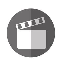 clapper board cinema icon vector image