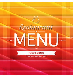 Color Restaurant Menu Design vector image