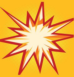Comic flash in the form of multipath stars vector