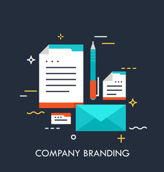 company branding concept vector image