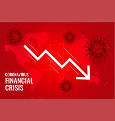 Coronavirus impact global financial downfall vector