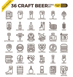 Craft Beer icons vector