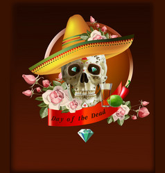 Day of the dead mexico vector