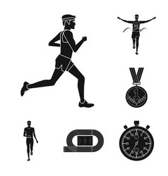 Design of health and fitness symbol set of vector