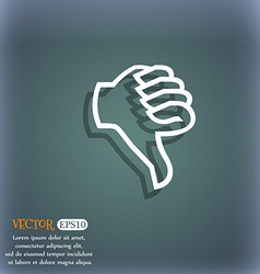 Dislike sign icon Thumb down Hand finger down vector