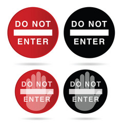 Do not enter sign in red and black color vector