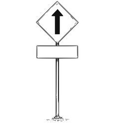 drawing of one way arrow traffic sign vector image