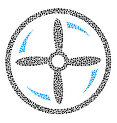Drone screw rotation composition of small circles vector