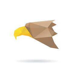 Eagle head abstract isolated vector