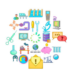 economy icons set cartoon style vector image