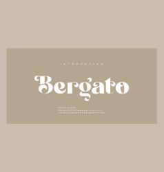 Elegant luxury alphabet letters font classic vector