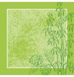 Exotic flora background vector