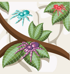 exotic insect isometric background vector image