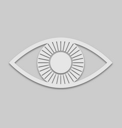 eye icon in white style vector image