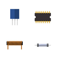 Flat icon device set of bobbin receptacle vector