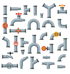 flat pipes oil pipe with pressure gauge metal vector image