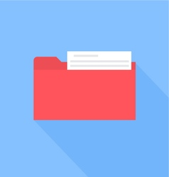 Folder with documents flat design vector
