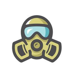 Gas mask respirator icon cartoon vector