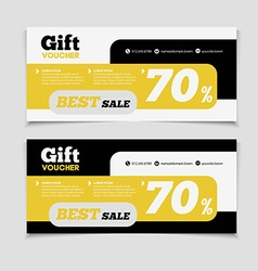 Gift voucher template with amount discount and vector