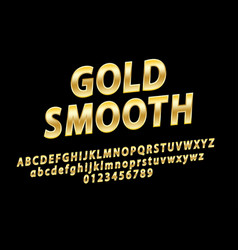 Glossy sign gold smooth chic golden vector