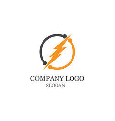 lightning icon logo and symbols template vector image