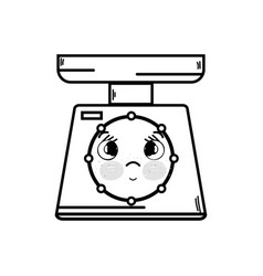Line kawaii cute tender weight machine vector