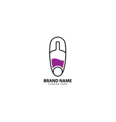 Needle bar logo design inspiration vector