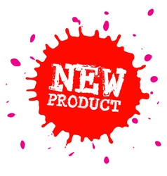 New Product Splash - Blot - Splatter Stain Red vector image