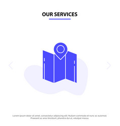 Our services map direction location navigation vector